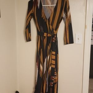 🎉HP🎉Charlotte Russe Multicolored Faux Wrap Dress
